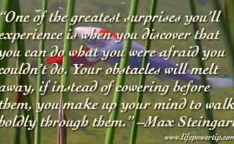 image - obstacles will melt away