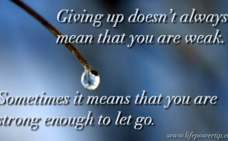 image - strong enough to let go