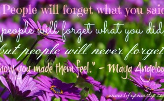 People Will Forget Quotation Image