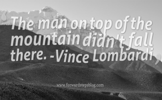 On Top Of The Mountain Quote Image