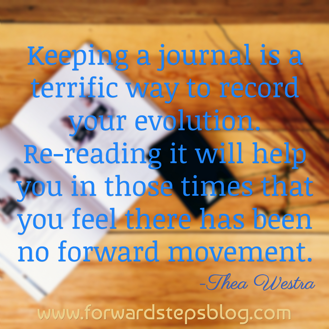 Record your evolution in a journal
