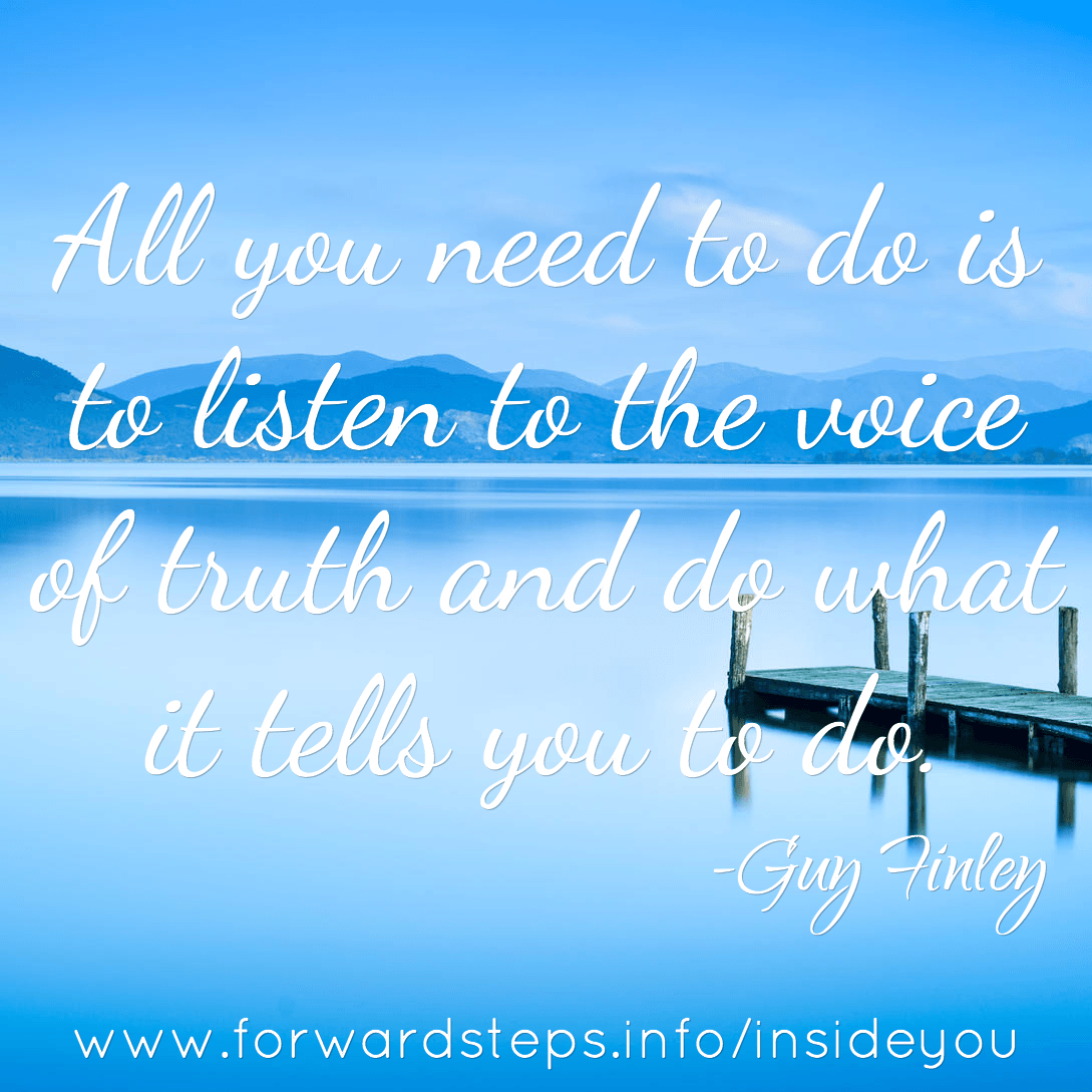 Listen To The Voice Of Truth quote image