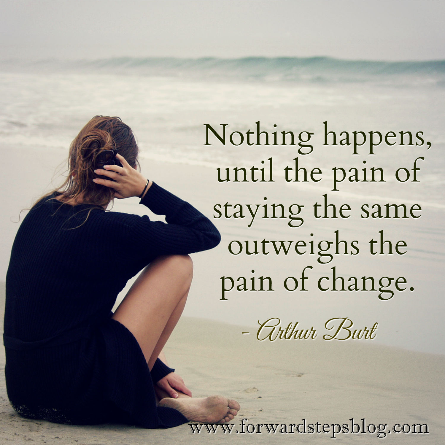 Pain Of Change Quote Image